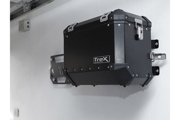 TRAX fixation murale Compatible avec les valises latérales TRAX. Noir.