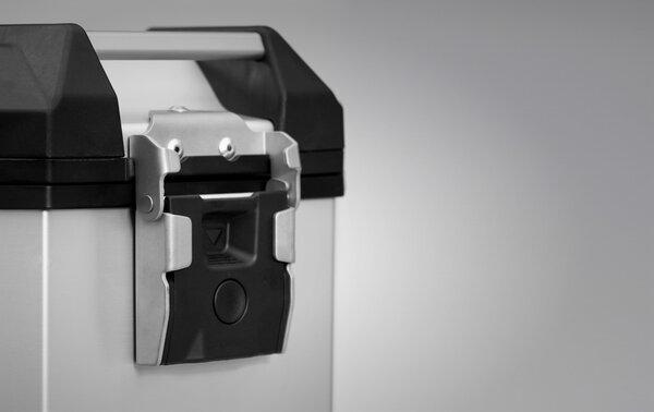 TRAX ADV L Seitenkoffer. Aluminium. 45 l. Links. Silbern.