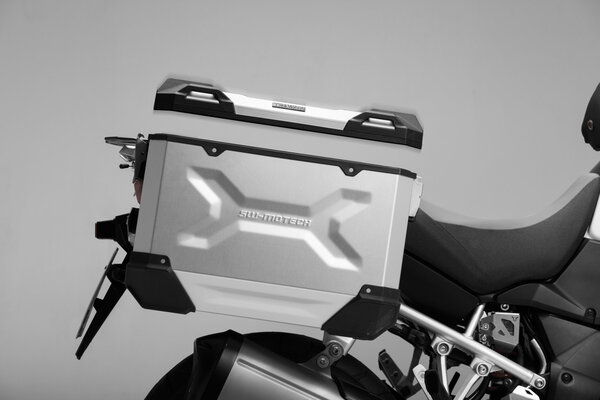 TRAX ADV L Side case. Aluminum. 45 l. Right. Silver.