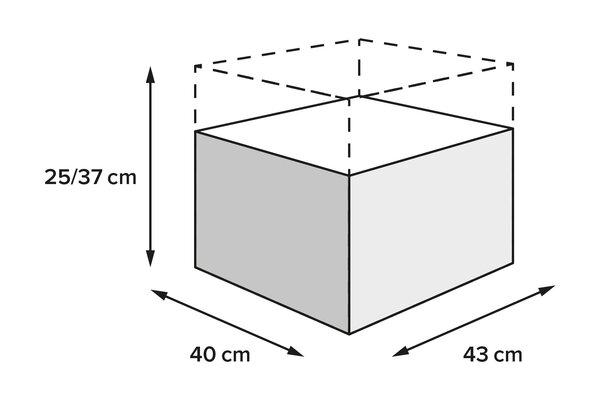 Borsa posteriore PRO Rearbag 1680D Nylon balistico. Nero/Antracite. 22-34 l.
