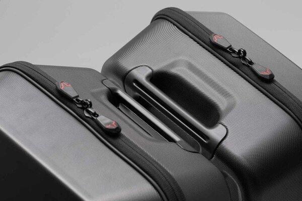 URBAN ABS valigia laterale destra 16,5 l. Plastica ABS. Telaio portaborse SLC dx.