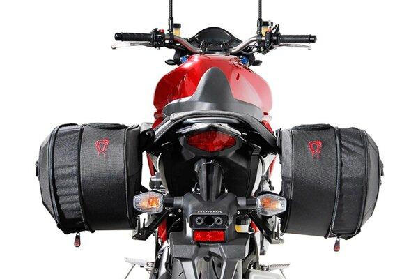 BLAZE H Satteltaschen-Set Schwarz/Grau. Honda CB1000R (08-17).