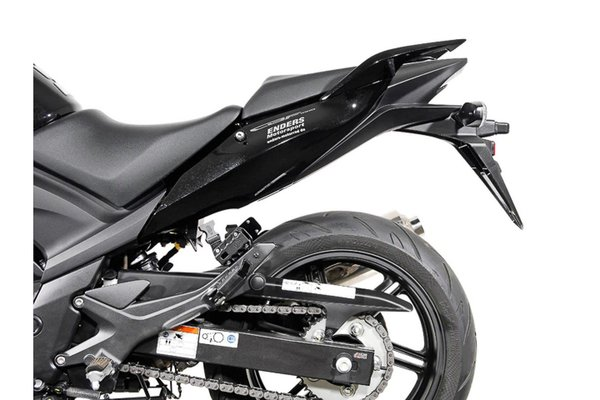 Sacoches latérales BLAZE Noir/Gris. Honda CBF500/ 600 / 1000.