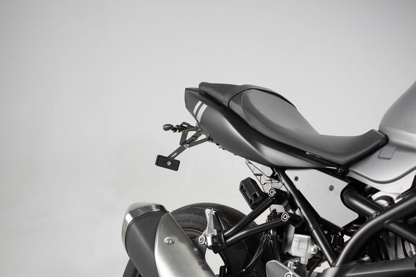 Sacoches latérales BLAZE version haute Noir/Gris. Suzuki SV650 ABS (15-).