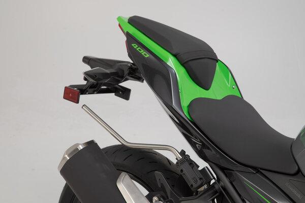 Sacoches latérales BLAZE version haute Noir/Gris. Kawasaki Ninja/ Z 400 (18-).