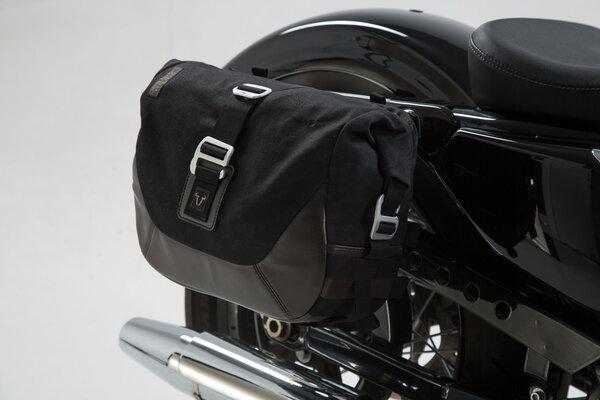 Legend Gear Seitentaschen-System LC Black Edition Harley Davidson Sportster Modelle (04-).