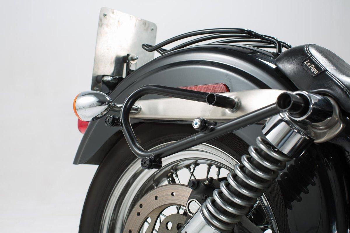 SW Motech HTA.18.791.11000/SLC Lado portaequipajes para Harley Dyna Modelos 2009 Negro 1