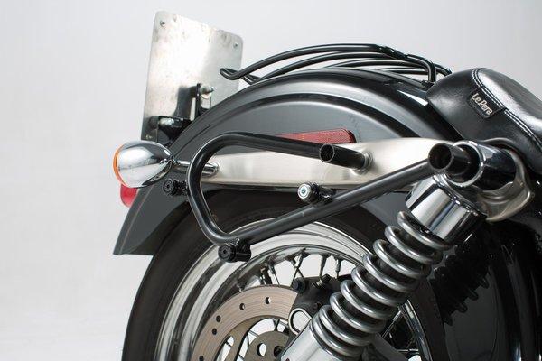 Legend Gear Seitentaschen-System LC Black Edition Dyna Wide Glide (00-08).