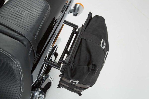 Legend Gear Seitentaschen-System LC Black Edition Harley Davidson Dyna Fat Bob (08-17).