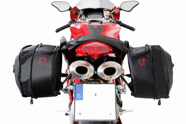 BLAZE Satteltaschen-Set Schwarz/Grau.Superbike 848(-13)1098(-09)1198(-12).