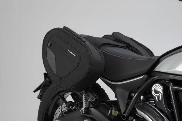 BLAZE H Satteltaschen-Set Schwarz/Grau. Ducati Scrambler (14-).