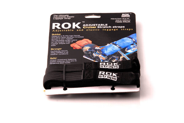 ROK straps 2 adjustable straps. Black. 500-1500 mm.