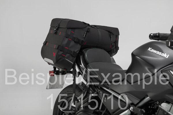 SysBag 10/15/10 Taschen-Set Schwarz/Anthrazit. Inkl. Verzurrgurte.