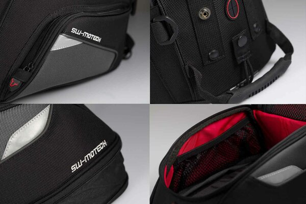 EVO Trial tank bag 15-22 l. For EVO tank ring. Black/Grey.