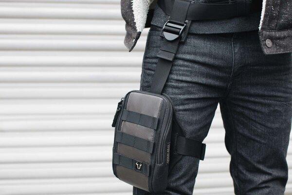 Legend Gear set di borse da gamba con LA8 Fondina LA7 con LA8. 1,25 l. Nero/Marrone.