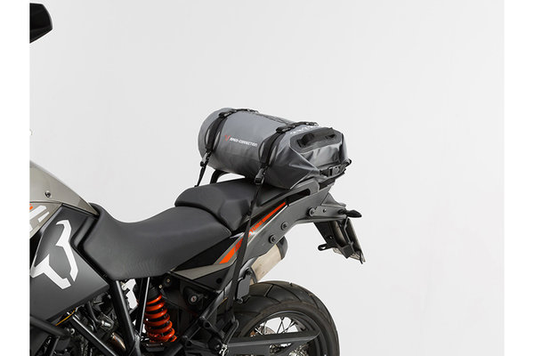 Drybag 250 tail bag 25 l. Grey/Black. Waterproof.