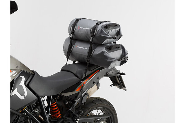 Drybag 450 tail bag 45 l. Grey/Black. Waterproof.