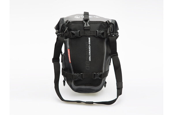 Drybag 80 tail bag 8 l. Grey/Black. Waterproof.