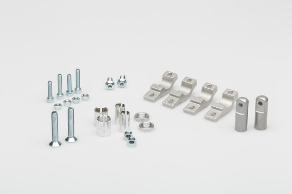 Mini EGO Handprotektoren-Kit Blau. Inklusive Anbaukit für 22 mm Lenker.