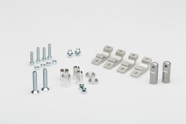 Mini EGO Handprotektoren-Kit Gelb. Inklusive Anbaukit für 22 mm Lenker.
