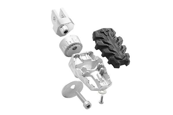 EVO Fußrasten-Kit Honda NC, Crossrun, Crosstour/ Suz SV650, DL650.
