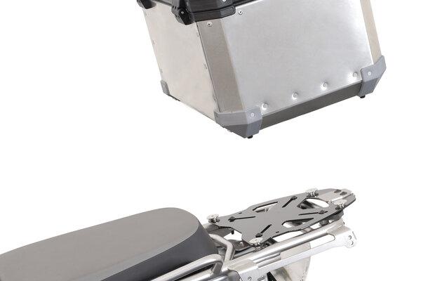 Placa adaptadora universal TRAX Negro. Fijación maleta superior TRAX a portaequip.