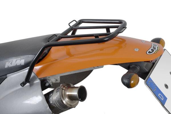 Stahlrohr-Gepäckträger Schwarz. KTM Modelle (96-07).