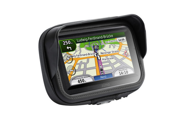 "Universal GPS mount kit with navi case Pro L Incl. 1"" ball, socket arm, navi mount, navi case."