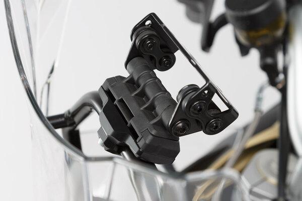GPS mount for crossbar Ø 13/16 mm Black.