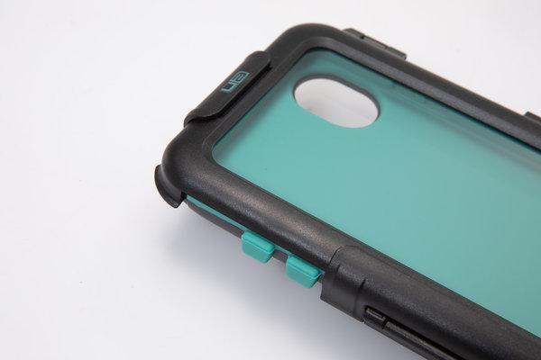 Custodia rigida per iPhone X / XS Per supporto navigatore. Antispruzzi. Nero.