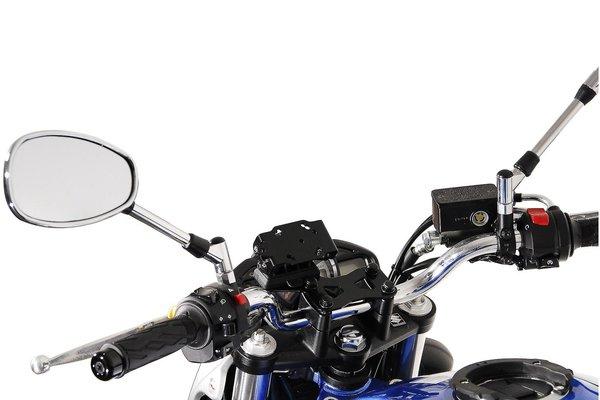 Navi-Halter am Lenker Schwarz. Honda-Modelle, Suzuki SFV 650 (09-16).