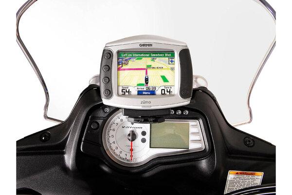 Supporto per GPS da cruscotto Nero. Suzuki DL 650 V-Strom (11-16).