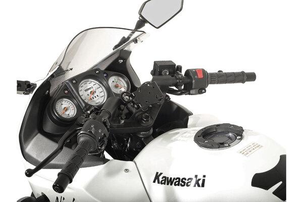 Navi-Halter am Lenker Schwarz. Kawasaki Ninja 250 R, Ninja 300.