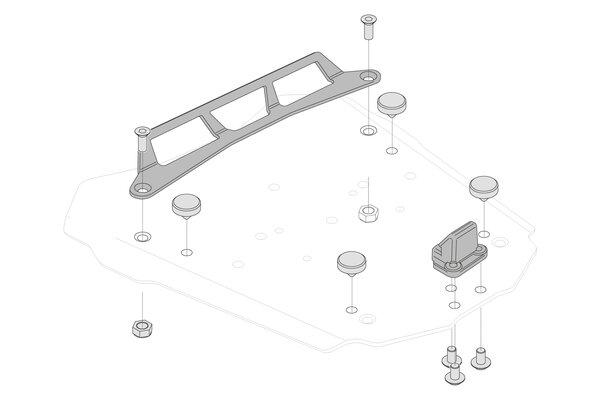 Adapterkit für STEEL-RACK Gepäckträger Für Givi Monolock.