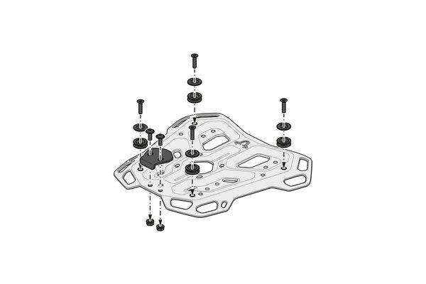 TRAX ADV Topcase-System Silbern. BMW R 1200 GS Adv / R 1250 GS Adv (13-).