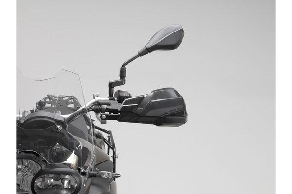KOBRA Handprotektoren-Kit Schwarz. NC-Mod/Crosstour,Kaw Versys1000,Suz DL650