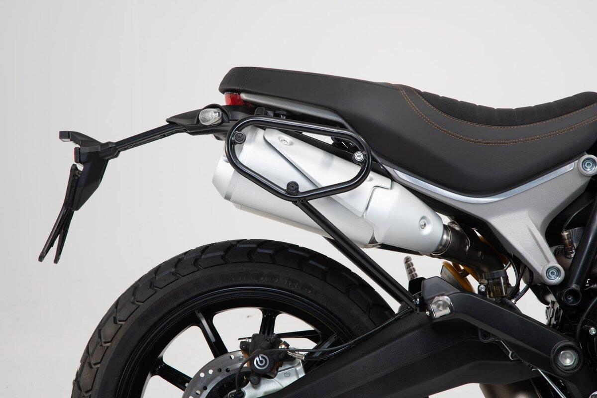 for 18-19 Ducati SCRAM1100SP Black SW-Motech SLC Side Carrier