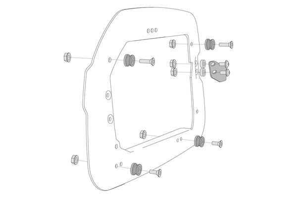 Adapterkit für QUICK-LOCK Kofferträger Für TRAX ADV/EVO. Montage von 2 Koffern.