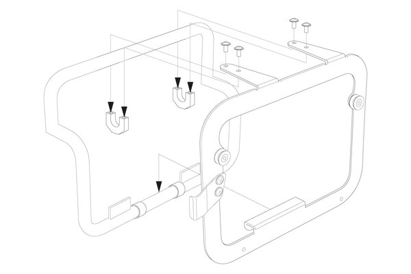 Adapterkit für orig. BMW Kofferträger Für TRAX ADV/ION. Montage von 2 Koffern.