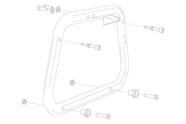 Adapterkit für EVO Kofferträger Für Givi Trekker. Montage von 2 Koffern.