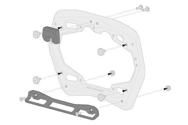 Kit adaptador para soporte lateral PRO Para maletas laterales Shad 2. Para 2 maletas.
