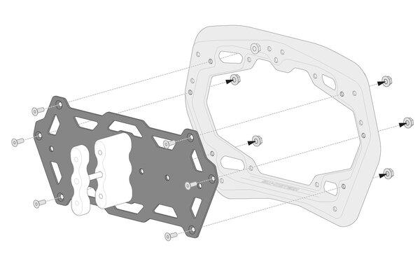 Adapterkit für PRO Seitenträger Für Rotopax. Montage von 1 Kanister.