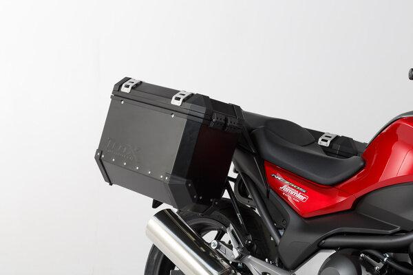 TRAX ION Alukoffer-System Schwarz. 37/37 l. Honda NC700 S/X, NC750 S/X.