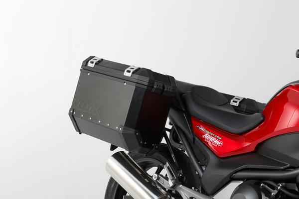 TRAX ION Alukoffer-System Silbern. 37/37 l. Honda NC700 S/X, NC750 S/X.