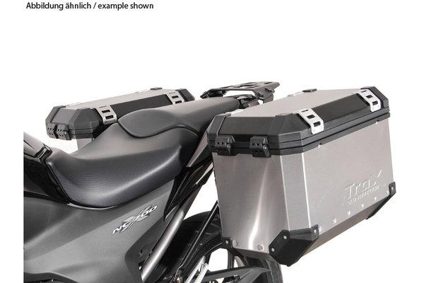 Kit valises TRAX ION Gris. 45/45 l. Honda NC700 S/X, NC750 S/X.