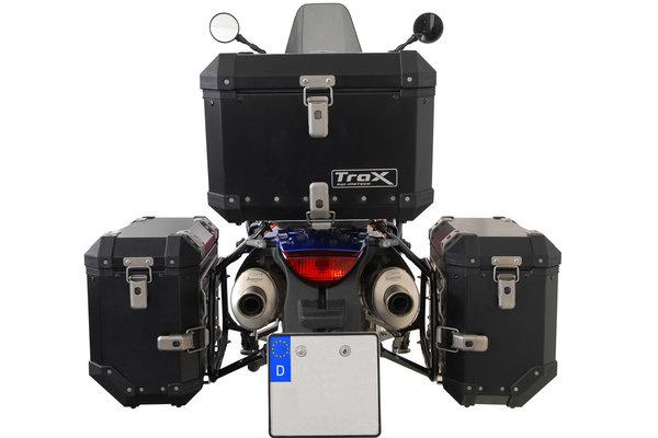 Sistema valigie in alluminio TRAX ION Argento. 37/37 l. KTM 950 Adv. / 990 Adv. (03-).