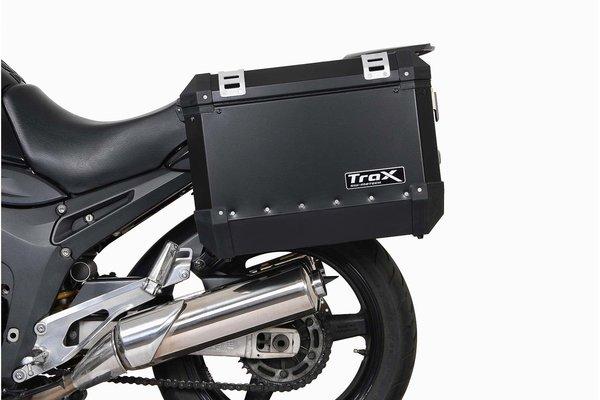 TRAX ION Alukoffer-System Silbern. 45/45 l. Yamaha TDM 900 (01-09).