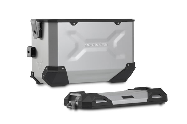 TRAX ADV Alukoffer-System Silbern. 45/45 l. Yamaha MT-07-Tracer (16-).