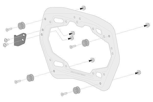 TRAX ION Alukoffer-System Schwarz. 37/37 l. BMW S 1000 XR (15-19).