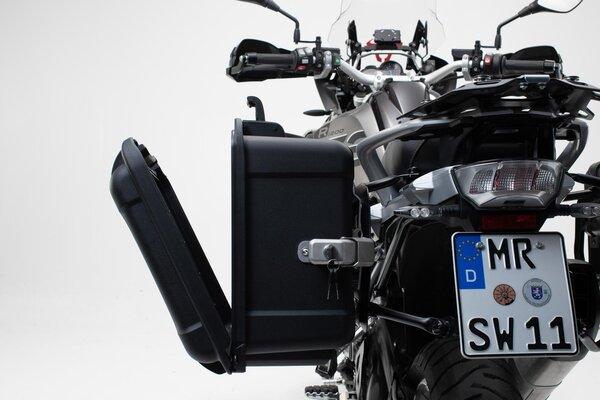 NANUK Seitenkoffer-System Schwarz. BMW R1200GS (12-), R1250GS (18-).